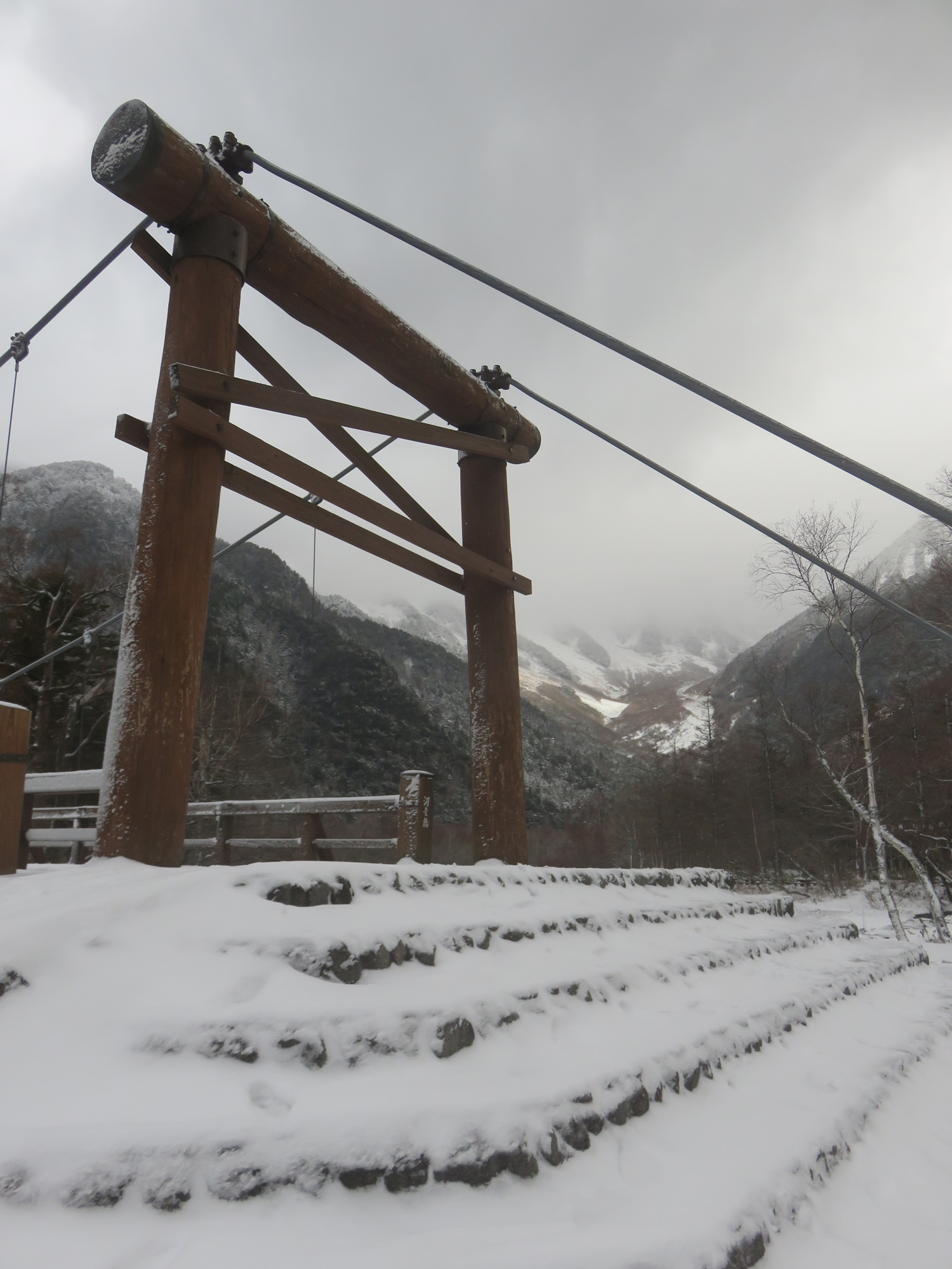 閉山翌日の河童橋