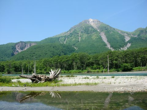 大正池から焼岳