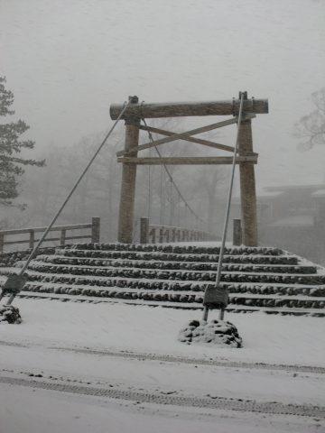吹雪の河童橋