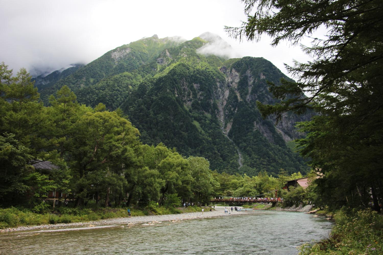 明神岳と河童橋