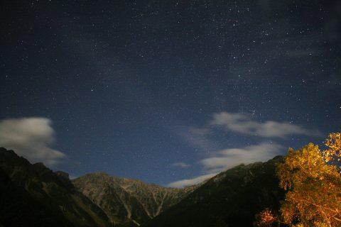 上高地の星空