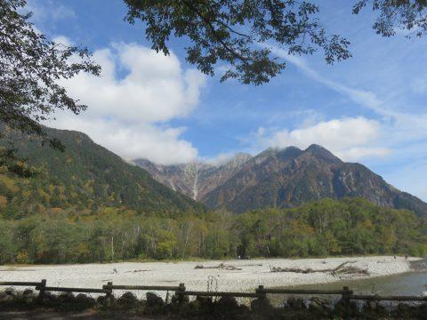 10月の穂高連峰