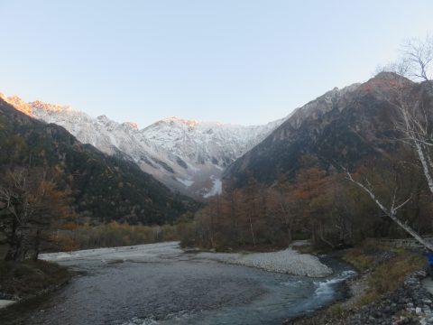 11月の穂高連峰