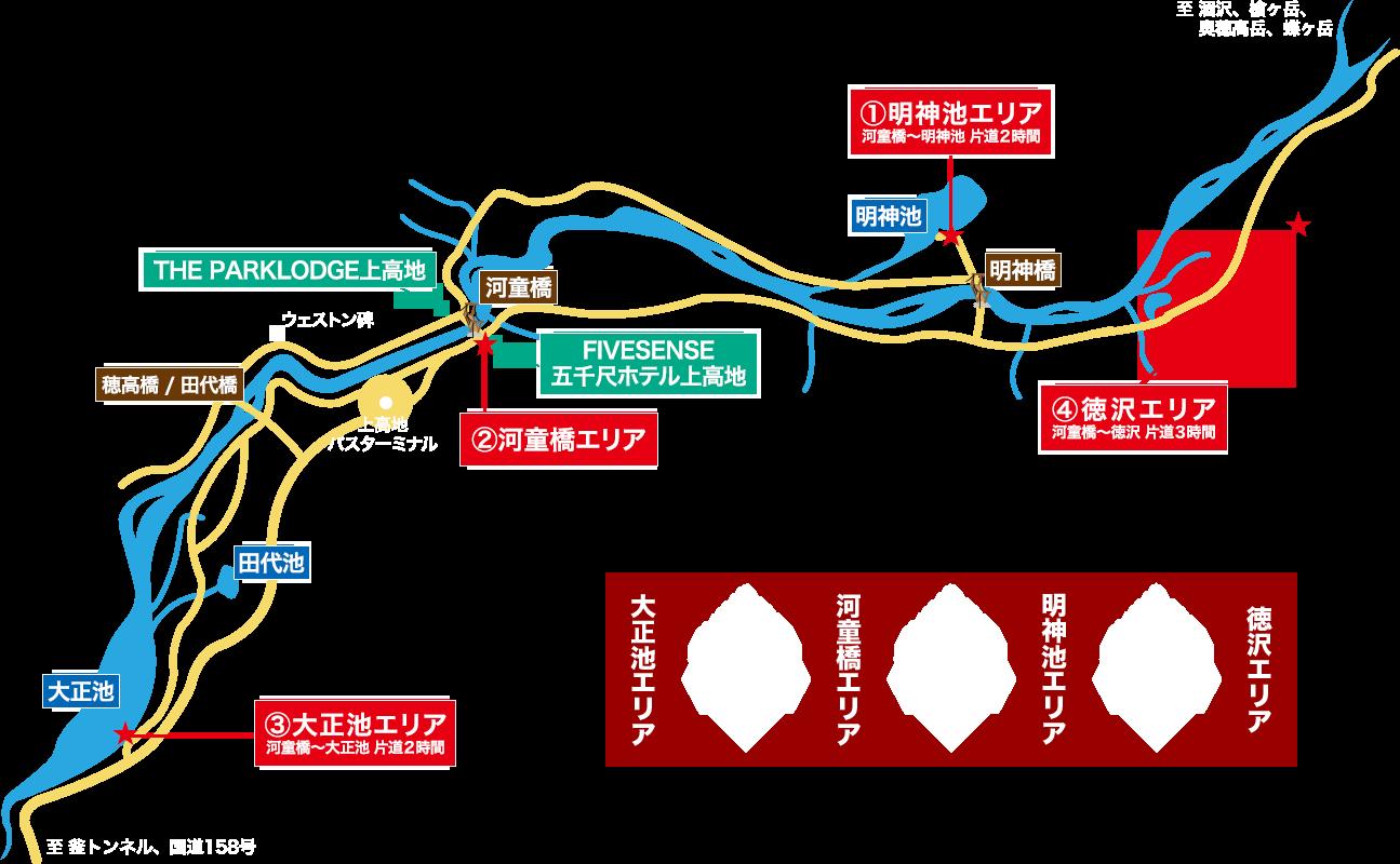 上高地観光・散策マップ