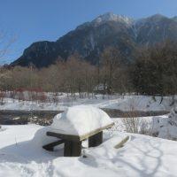 冬季閉山中の上高地