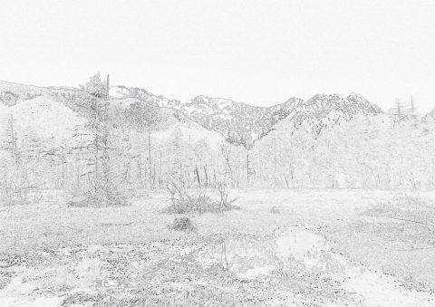 田代湿原塗り絵