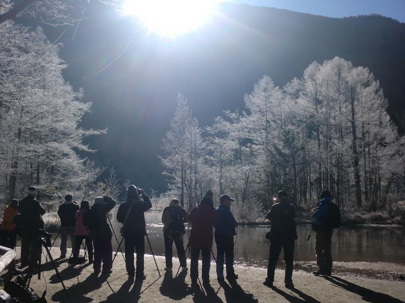 田代池の樹霜