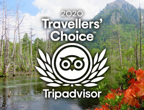 「トラベラーズチョイス2020」を受賞しました!