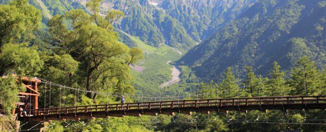 河童橋と穂高連峰と梓川