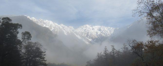冠雪の穂高連峰