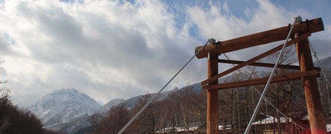 冬期上高地の河童橋