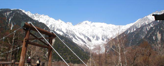 河童橋からの穂高連峰