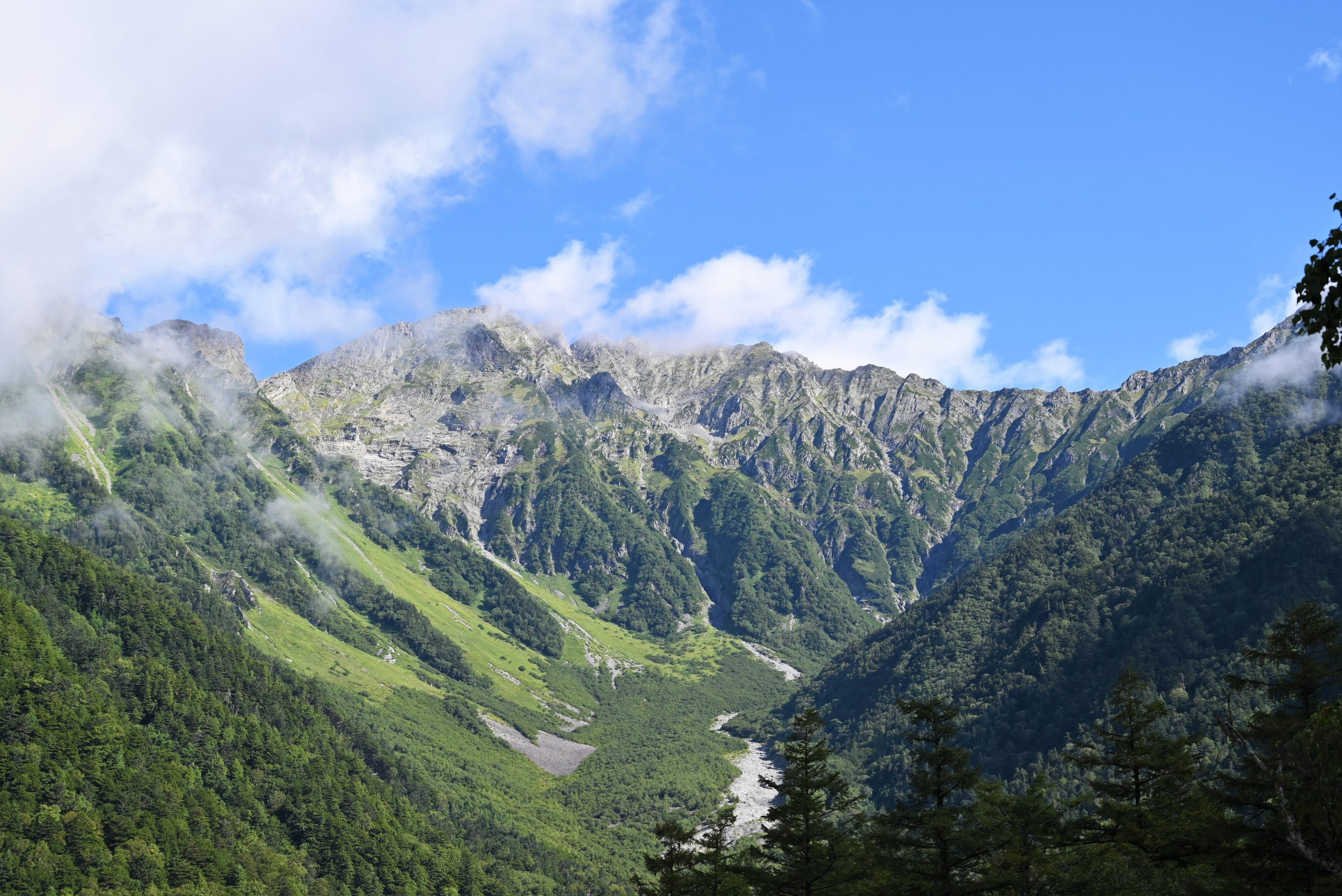 ネイチャーガイドおすすめの上高地の景色:河童橋からの穂高連峰