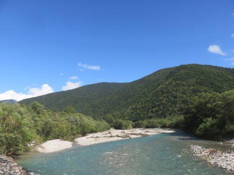 上高地・明神橋から梓川